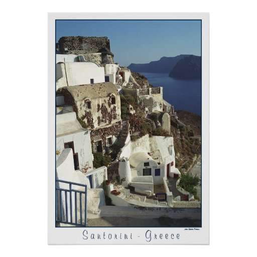 Santorini Poster (high resolution)