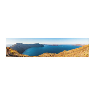 Santorini Ridge Panorama Canvas Print