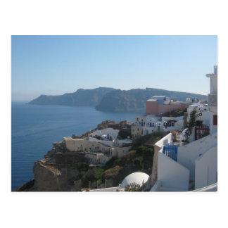 Santorini Rooftops Postcard