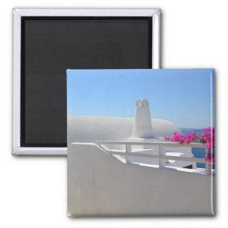 Santorini Square Magnet