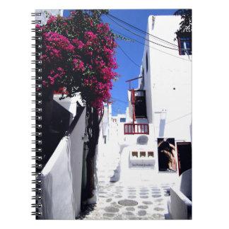 Santorini street notebook