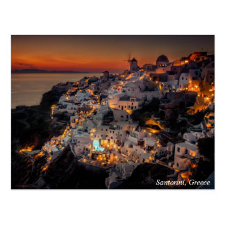 Santorini Sunset, Greece Postcard