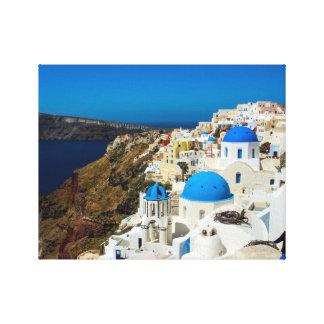 Santorini, The Greek Islands Canvas Print
