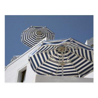 Santorini – Umbrellas Postcard