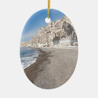 Santorini Vlichada beach Ceramic Ornament