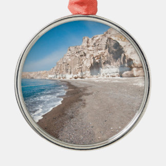 Santorini Vlichada beach Metal Ornament