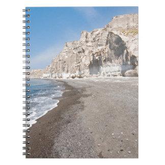 Santorini Vlichada beach Notebooks