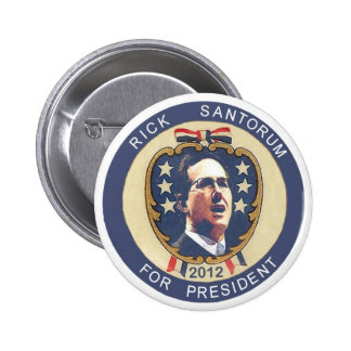 Santorum 2012 retro design 6 cm round badge