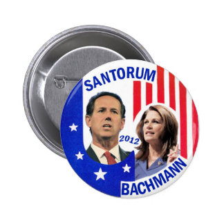Santorum / Bachmann 2012 6 Cm Round Badge