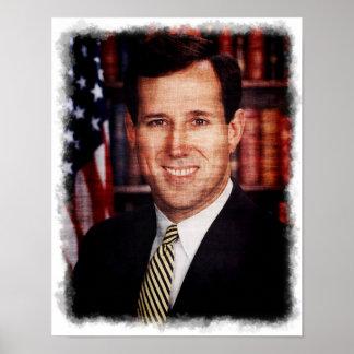 Santorum Portrait Art Photo Poster