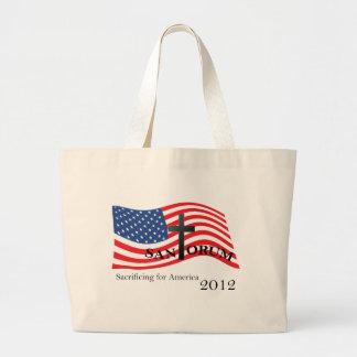 Santorum Sacrificing for America 2012 Tote Bags
