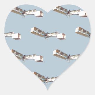 Santos-Dumont 14-Bis Airplane Heart Sticker