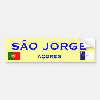 Sao Jorge Bumper Sticker Car Bumper Sticker