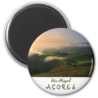 Sao Miguel, Azores 6 Cm Round Magnet