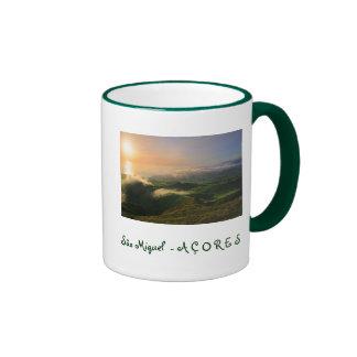 Sao Miguel, Azores Ringer Coffee Mug