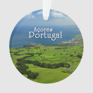 Sao Miguel green landscape Ornament