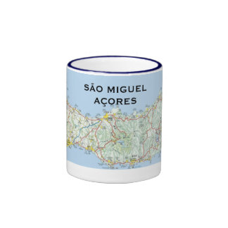 Sao Miguel Map Coffee Mug