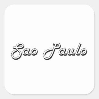 Sao Paulo Brazil Classic Retro Design Square Sticker