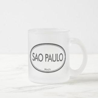 Sao Paulo, Brazil 10 Oz Frosted Glass Coffee Mug