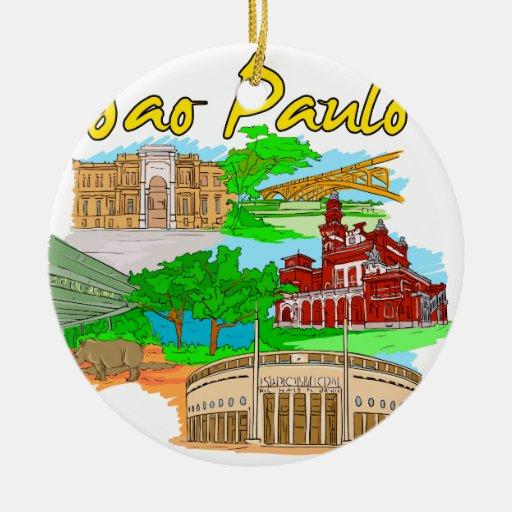 Sao Paulo - Brazil.png Christmas Tree Ornaments