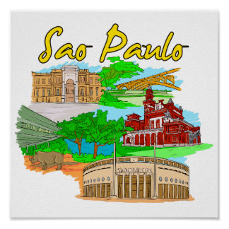Sao Paulo - Brazil png Posters