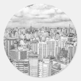 Sao Paulo, Brazil Round Sticker