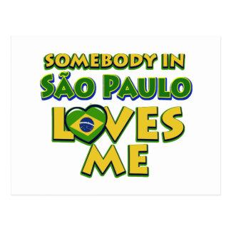 Sao Paulo City Designs Postcard