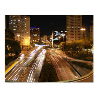 São Paulo city lights Postcard