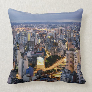 Sao Paulo Cityscape 2 Throw Pillow