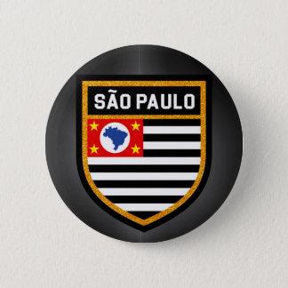 São Paulo Flag 6 Cm Round Badge