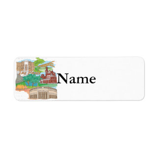 Sao Paulo Return Address Label