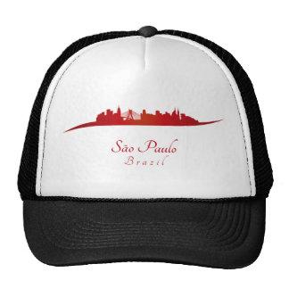 Sao Paulo skyline in network Trucker Hats