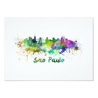Sao Paulo skyline in watercolor Card
