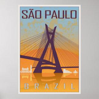 Sao Paulo vintage poster