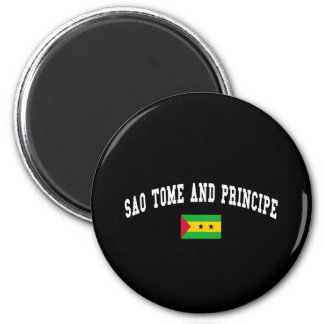 SAO TOME AND PRINCIPE 6 CM ROUND MAGNET