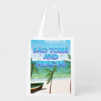 São Tomé and Principé beach Reusable Grocery Bag