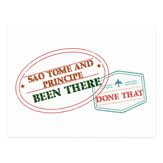 Sao Tome and Principe Been There Done That Postcard
