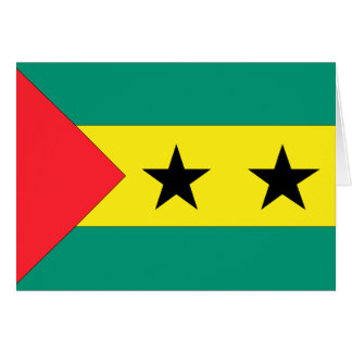 Sao Tome and Principe Flag Card