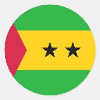 Sao Tome and Principe Flag Classic Round Sticker