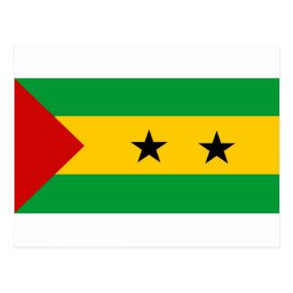 Sao Tome and Principe flag Postcard