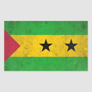 Sao Tome and Principe Rectangular Sticker
