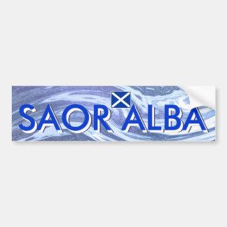 Saor Alba Free Scotland Ocean Bumper Sticker Car Bumper Sticker