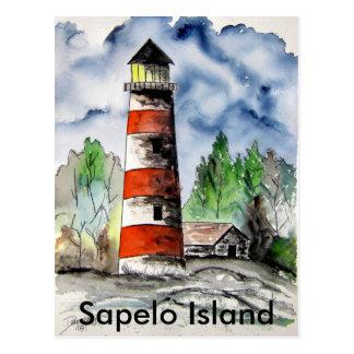 Sapelo Island Lighthouse Georgia Nautical art gift