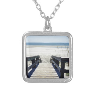 Sapelo Island View Silver Plated Necklace