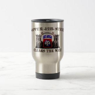 Sapper 12B Steel 82nd Airborne Travel Mug