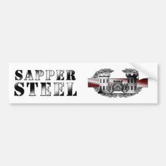 SAPPER STEEL CAR BUMPER STICKER