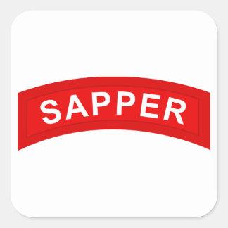 SAPPER Tab Square Sticker