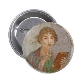 Sapphic Pride Badge (Sappho Fresco Version)