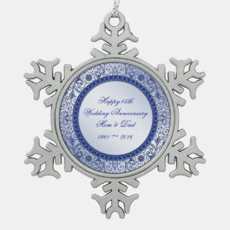 Sapphire 45th Wedding Anniversary Ornament