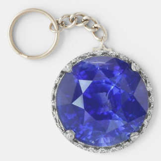 Sapphire  basic keychain